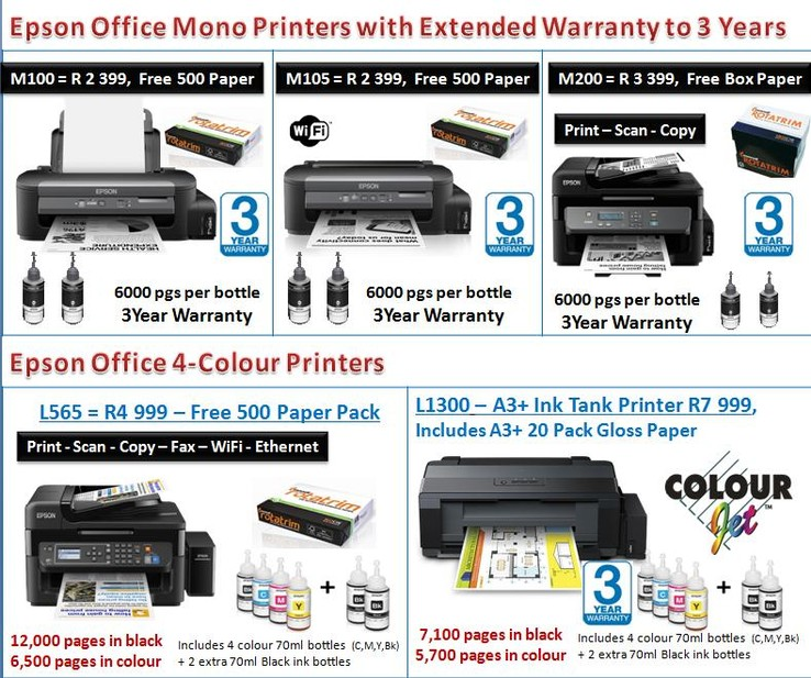 Epson April Promo - Epson Ink Tank Printers available from