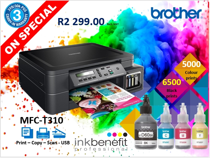 Brother T310 Ink tank Printer
