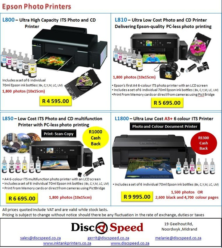 March Promotion - Epson Ink Tank Printers available from