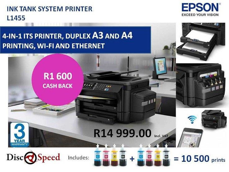 Epson L1455 with R1600 Cash Back from Epson SA - Epson Ink