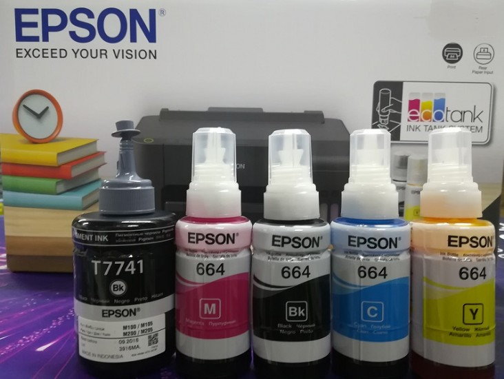 Epson Refill Inks - Epson Ink Tank Printers available from Discspeed