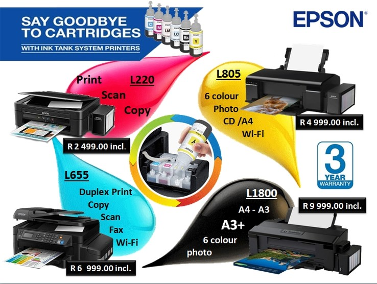 August Promo - Epson Ink Tank Printers available from Discspeed