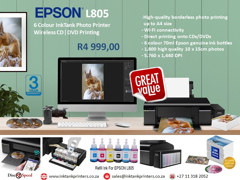 Epson L805 Photo and CD printer
