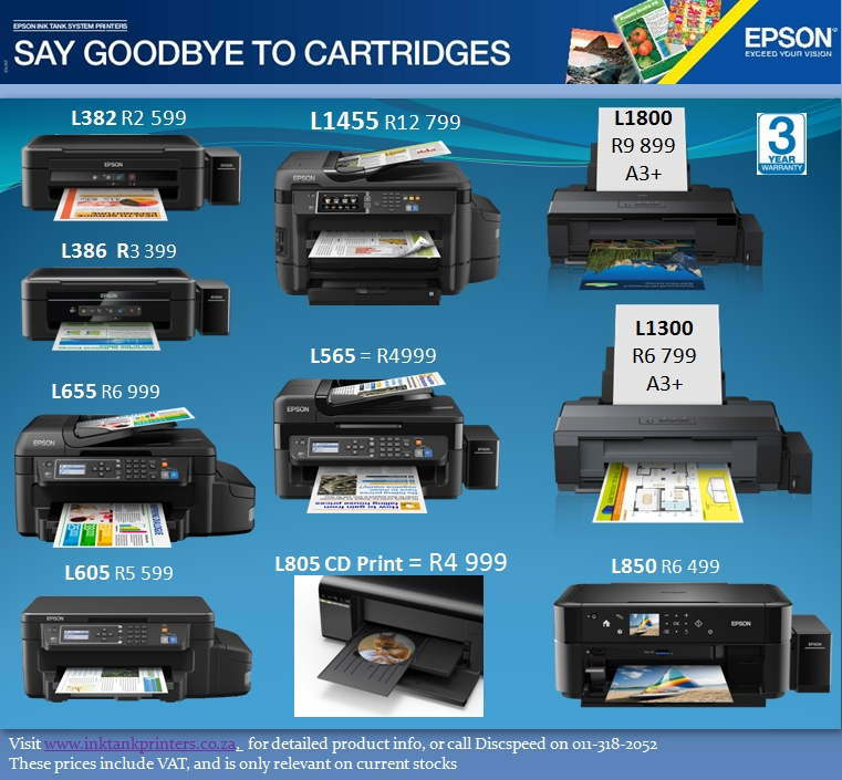 Epson May Promo - Epson Ink Tank Printers available from