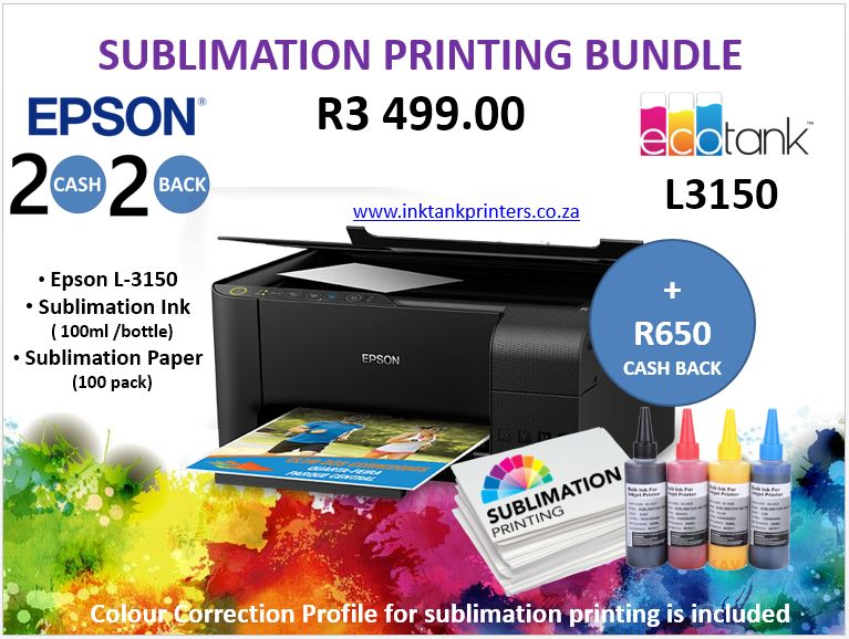 Epson Sublimation Printing - Epson Ink Tank Printers available from