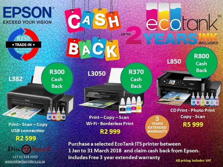 Epson L3050 Eco Tank Promotion - Epson Ink Tank Printers