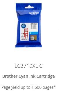 Brother LC3719XLC High yield Cyan ink cartridge
