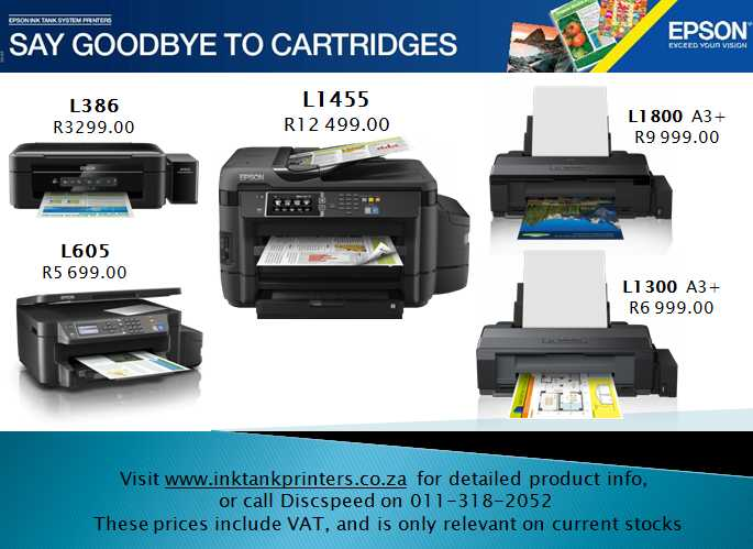 Epson Ink Tank System Printers Now With 3 Year Warranty