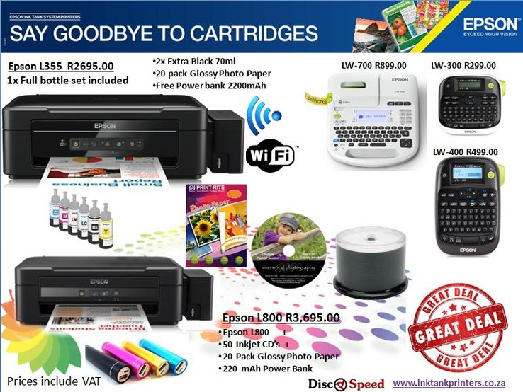 September Promotion - Epson Ink Tank Printers available from